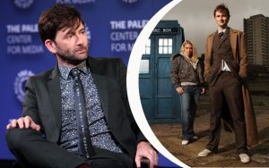 Tennant at PaleyFest discussing costume