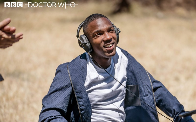 Tosin Cole during Demons of the Punjab Filming