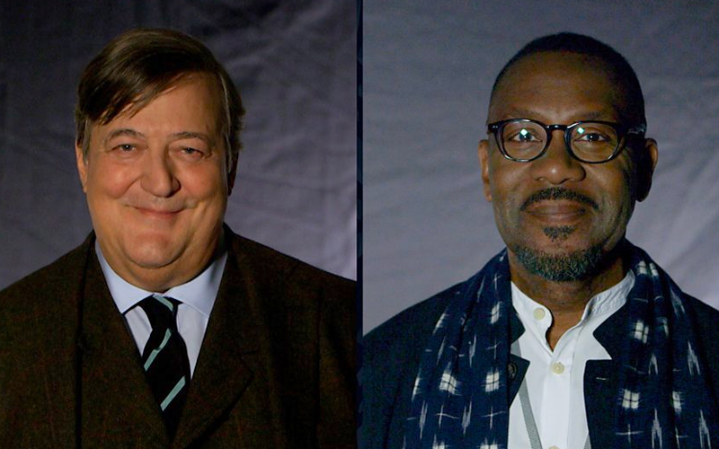 Stephen Fry and Sir Lenny Henry